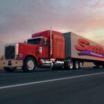 SSI Logistics Semi trailer truck with Sutton Trucking Logo